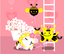 ハチとさくら.png